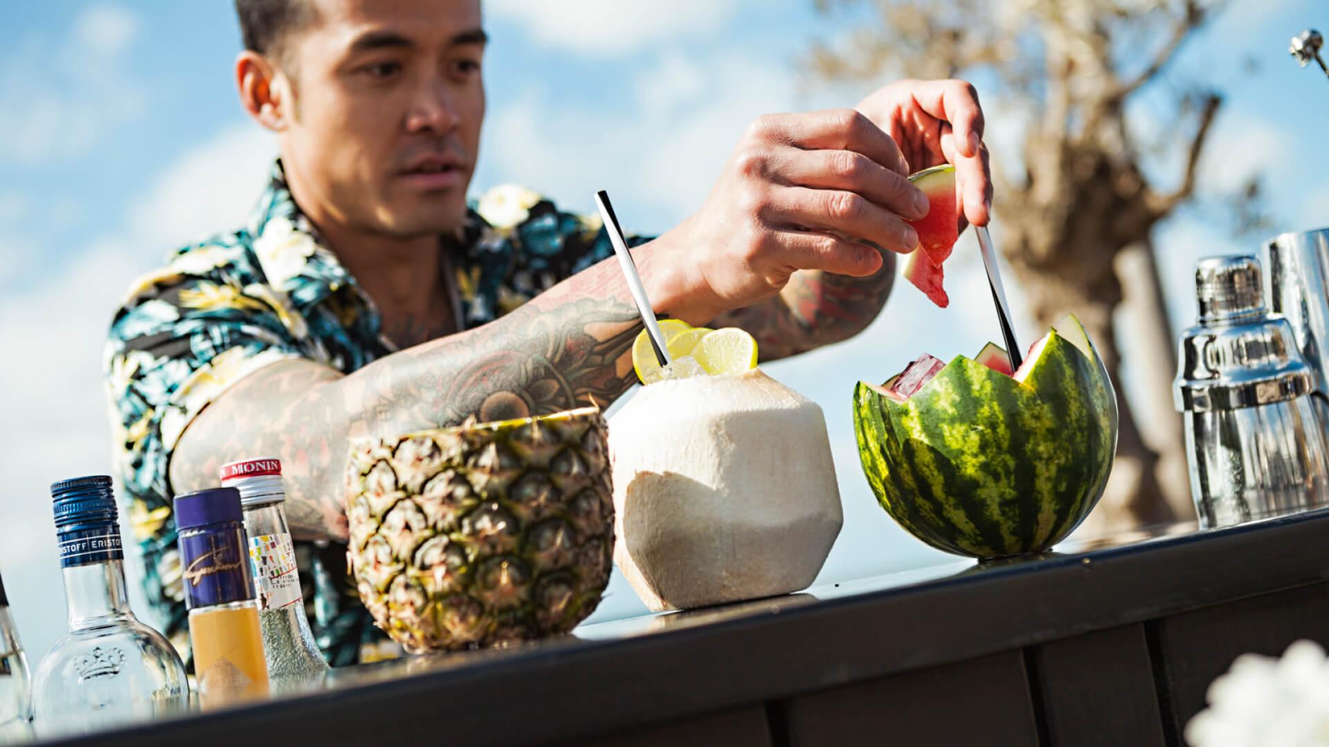Cocktails aan zee