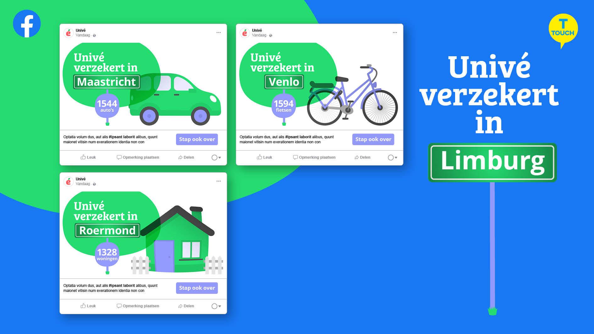 Online campagne Univé - touch fase