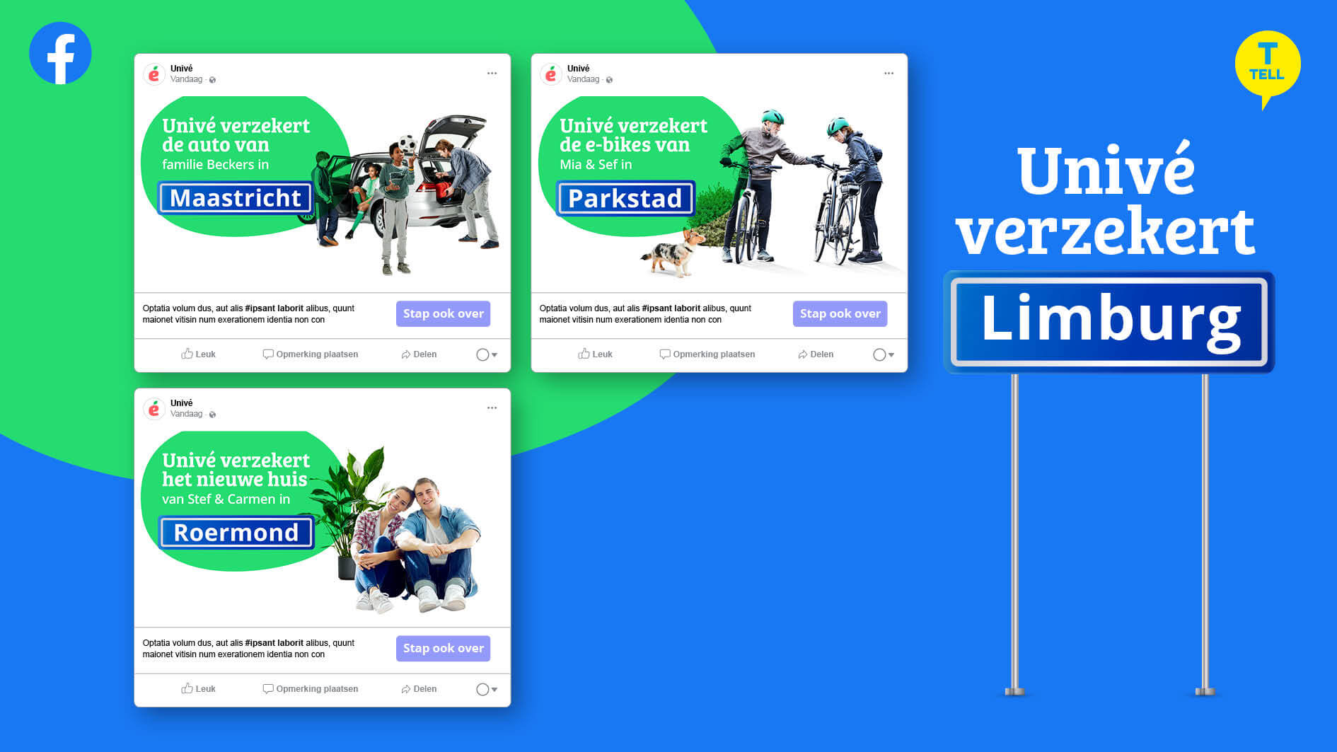 Online campagne Univé - tell fase